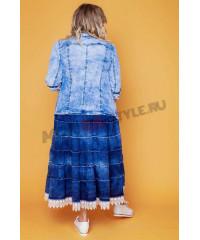 Жакет джинсовый Лина, , , 10047-Kr, , Верхняя одежда